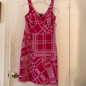 Empire line pink women's dress size 2